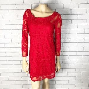 Express Women's Red Lace Dress